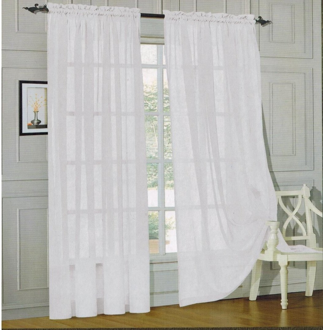 2 Piece Sheer Window Curtains Only 3 99 Free Shipping