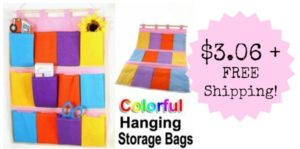 Colorful Hanging Pocket Home Organizer Just $3.06 Shipped!