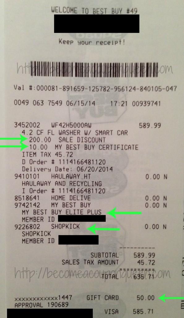 best buy receipt