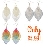 Bohemian Style Hollow Leaf Dangle Earrings Only $5.99!