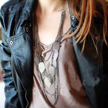 multi-layer leaves necklace