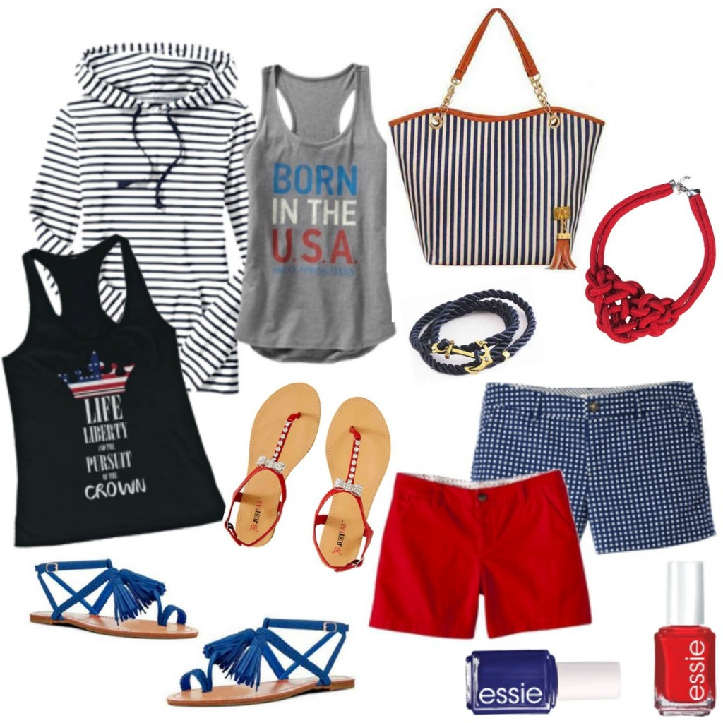 red white and blue frugal fashion round up