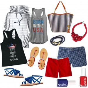 Red, White and Blue Frugal Fashion Round-Up!