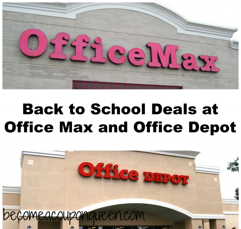 Back to school deals at office max and office depot for Deals by depot