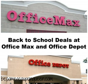 Back to School Deals at Office Max and Office Depot