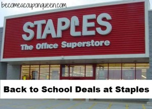 Back to School Deals at Staples