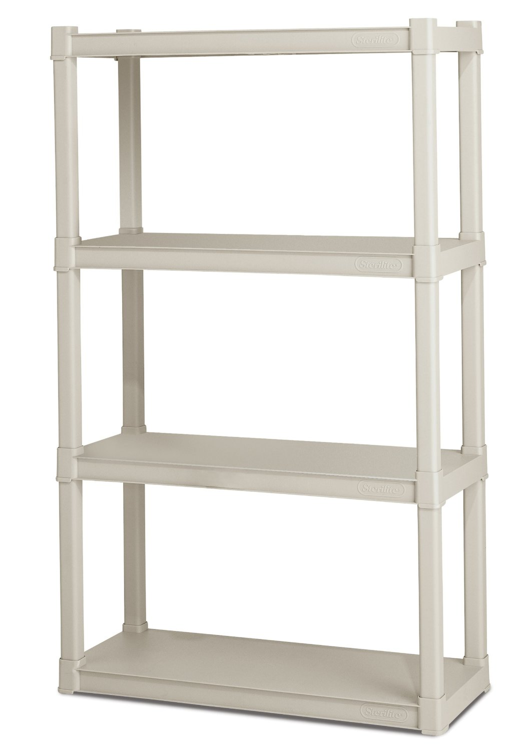Sterilite 4 Shelf Shelving Unit Only 29 00 Great For