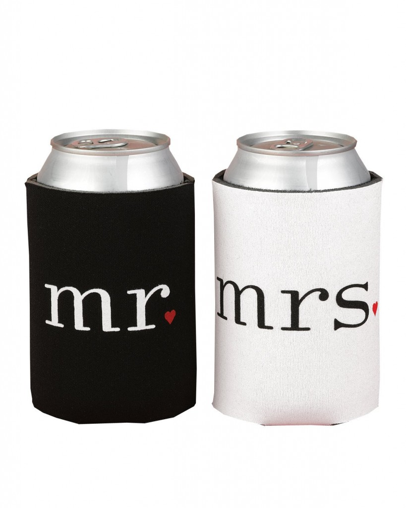 mr. and mrs. can koozies