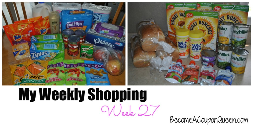 my weekly shopping trips