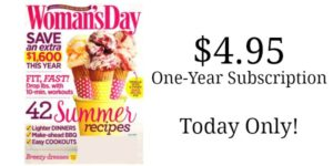 Woman's Day Magazine Subscription Only $4.95 per Year!