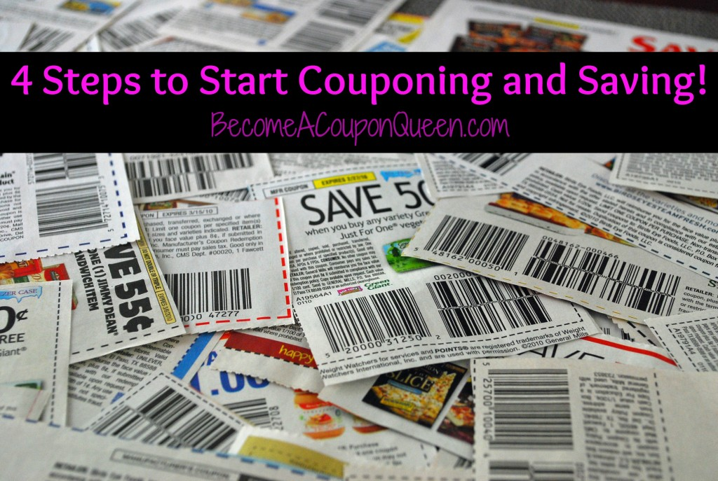 4 Steps to Start Couponing and Saving