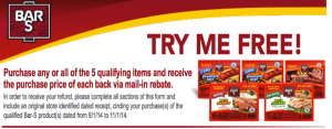 5 FREE Bar-S Products after Rebate!