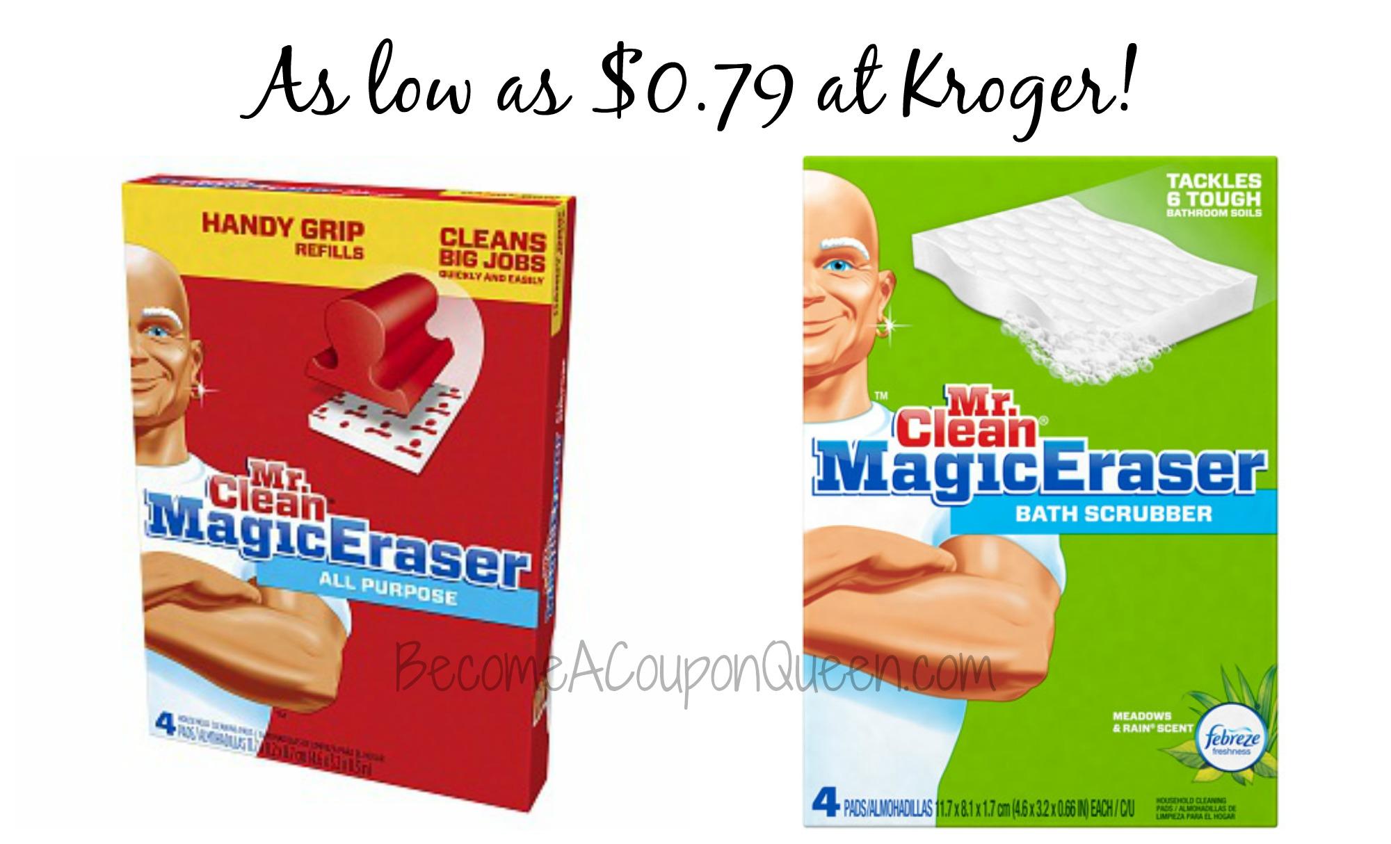 kroger mr clean magic eraser as low as. Black Bedroom Furniture Sets. Home Design Ideas