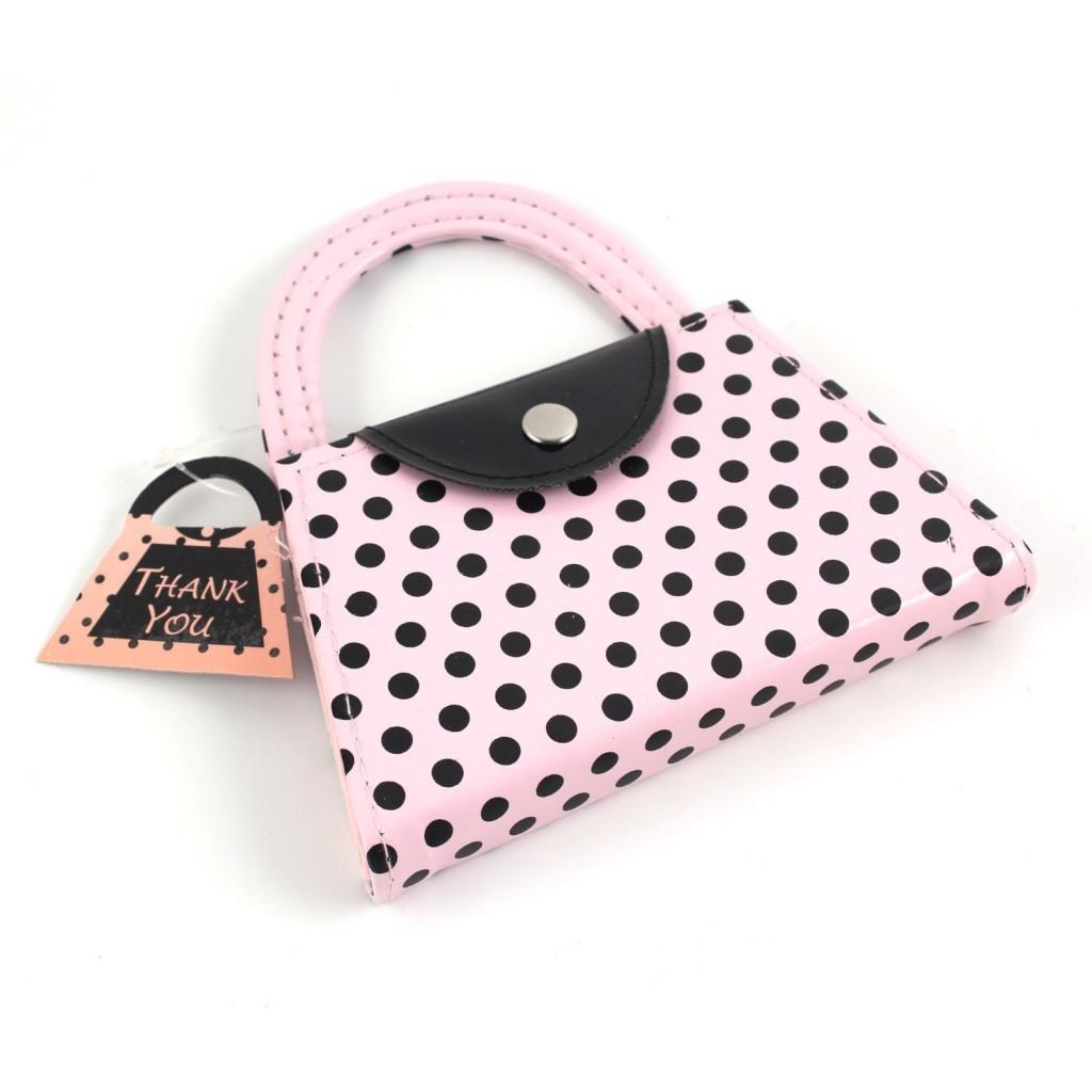 pink polka dot manicure set