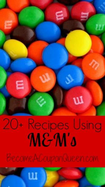 recipes using m&m's