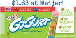 Meijer: Yoplait Go-Gurt Only $1.63 at Meijer!