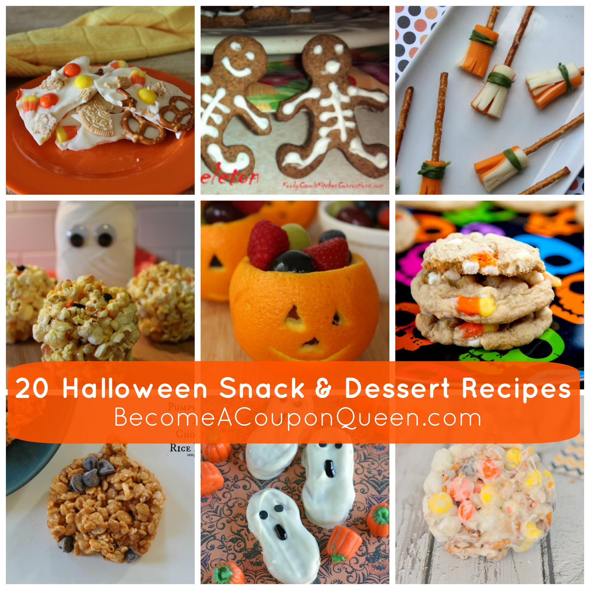 20 halloween snack dessert recipes for Halloween desserts recipes with pictures