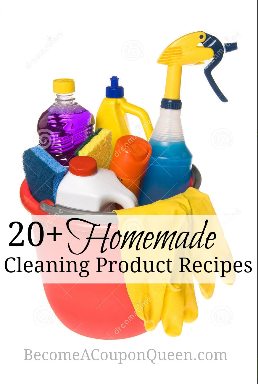 20+ Homemade Cleaning Product Recipes