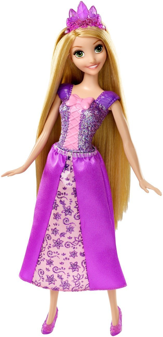disney princess sparkling princess rapunzel doll only  7