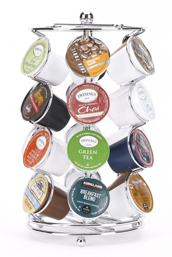 K-cup Coffee Pod Storage Spinning Carousel Holder - 24 ct