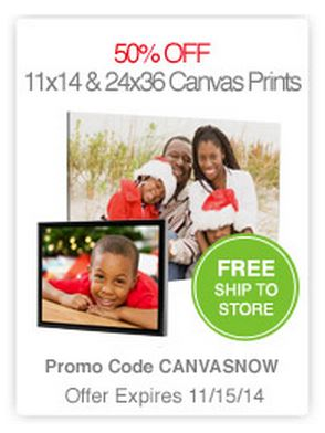 50 off 11x14 or 24x36 canvas prints free shipping at cvs com