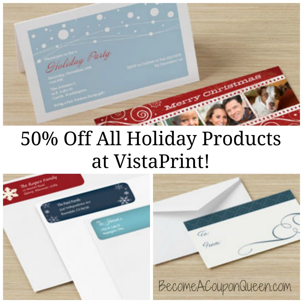 50% Off All Holiday Products on VistaPrint!