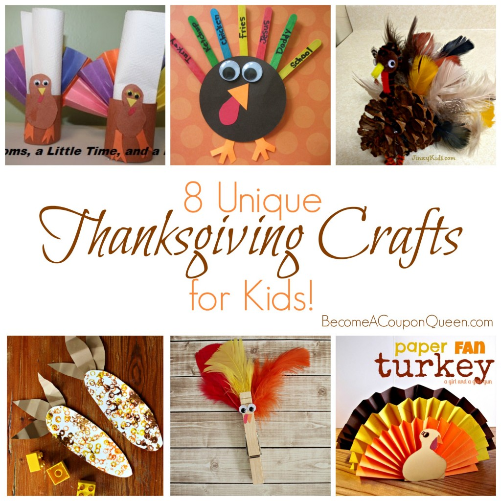 8 unique thanksgiving crafts for kids