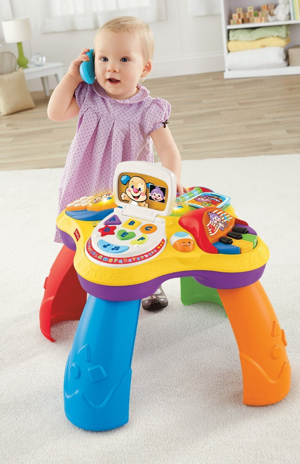 Fisher price laugh and learn puppy and friends learning table lowest price - Table activite fisher price ...