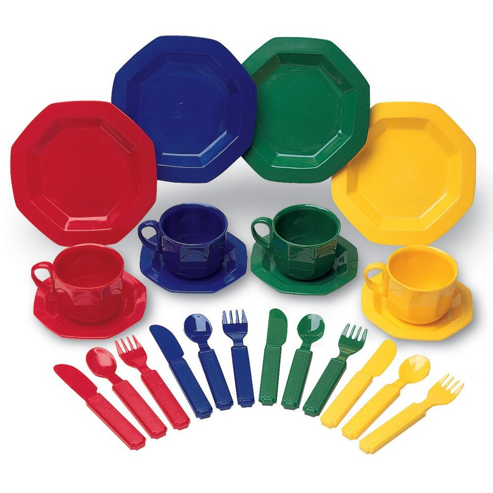 Learning resources pretend and play dish set only for Kitchen set plates