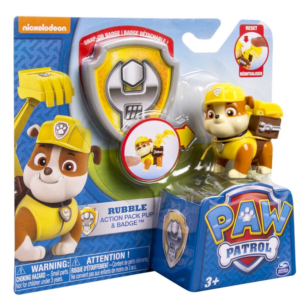 Paw Patrol Action Pack Pup Badge Rubble 450 Lowest Price