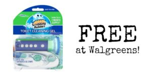 FREE Scrubbing Bubbles Toilet Cleaning Gel at Walgreens!