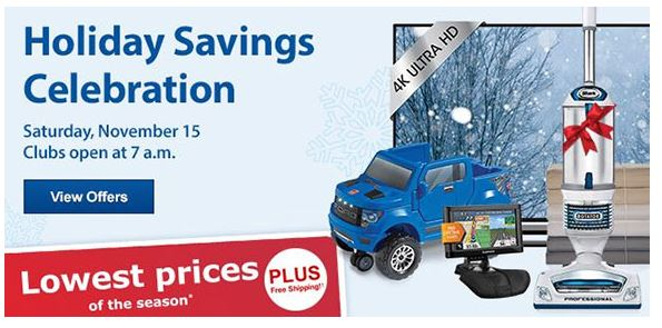 holiday savings celebration at sam's club