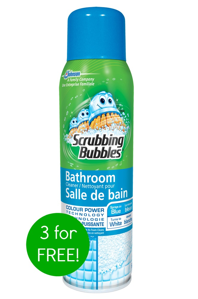 Meijer 3 Scrubbing Bubbles Foaming Cleaner For Free