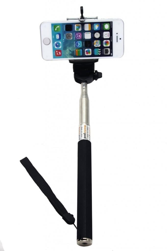 extendable selfie handheld stick with smartphone holder only. Black Bedroom Furniture Sets. Home Design Ideas