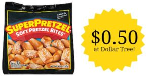 NEW $0.50/1 SuperPretzel Pretzel Coupon! $0.50 at Dollar Tree!