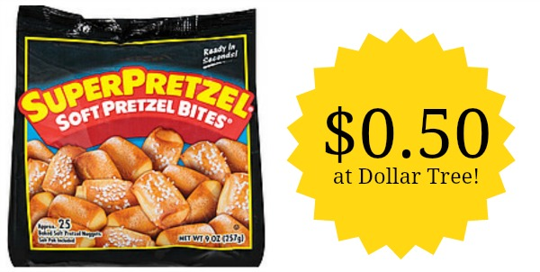 NEW $0.50/1 SuperPretzel Pretzel Coupon! $0.50 at Dollar Tree!