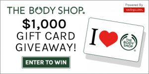 Enter to Win a $25 Gift Card to The Body Shop!