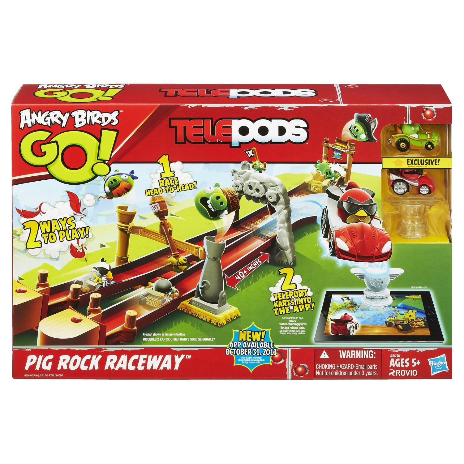 Angry Birds Go Telepods Pig Rock Raceway Set Only 10 46