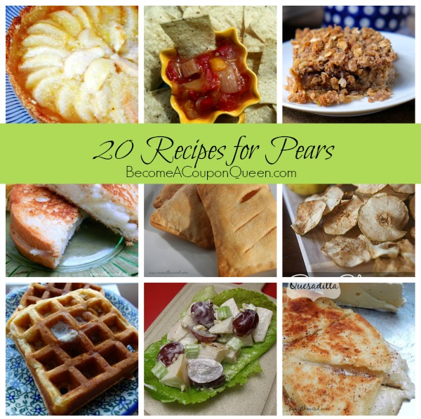 20 recipes for pears