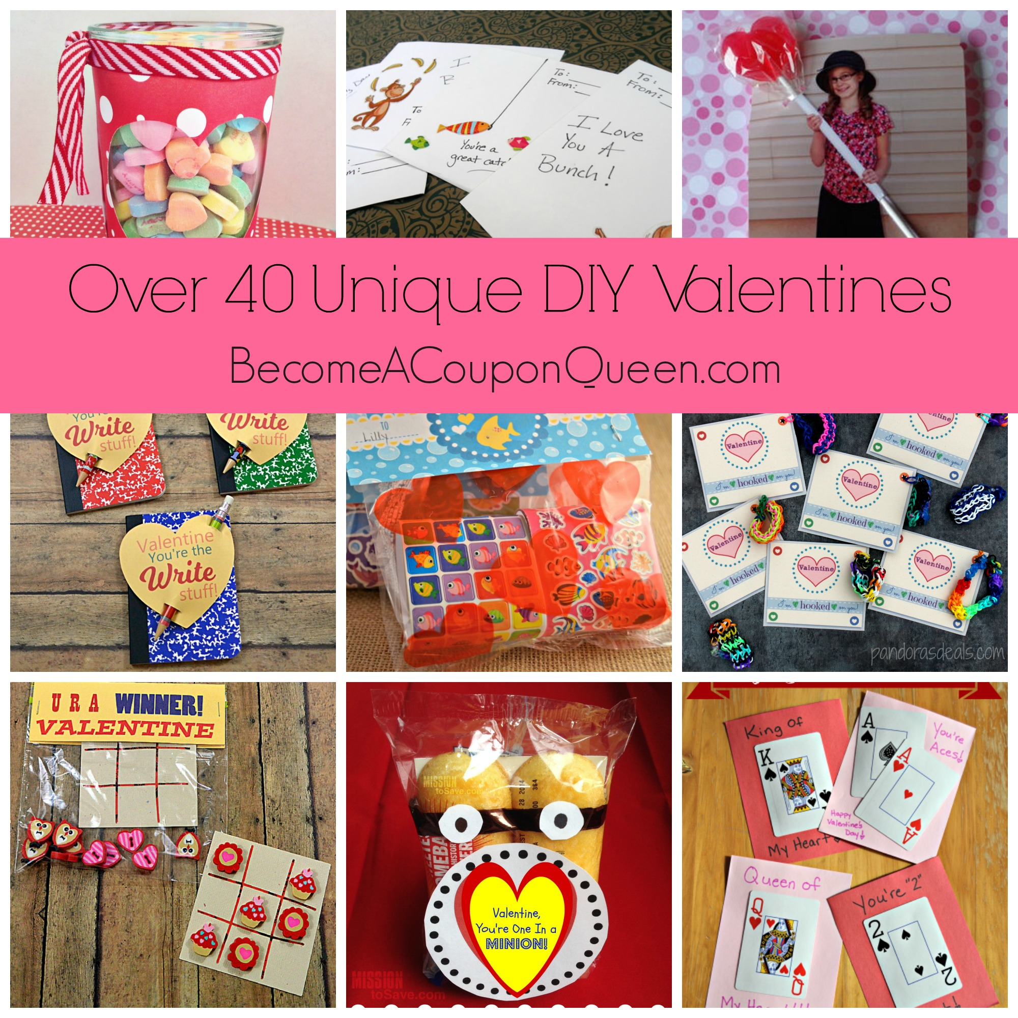 Over 40 Unique DIY Valentines!