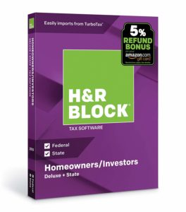 H&R Block Tax Software Deluxe + State 2018 with 5% Refund Bonus Offer Only $18! (was $44.99)