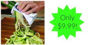 Veggetti Spiral Vegetable Slicer Only $9.99!