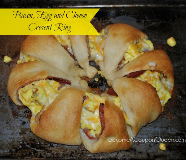bacon egg and cheese crescent ring final