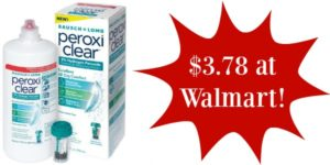 Walmart: Bausch & Lomb PeroxiClear Contact Solution Only $3.78!