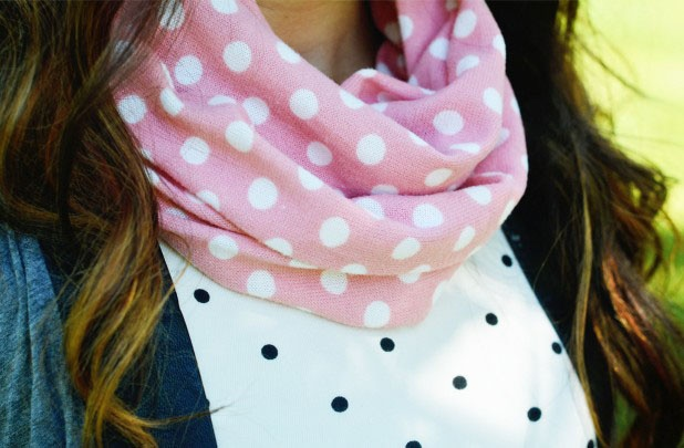 4042a076bc77 Pink Polka Dot Scarf Only  2.99!