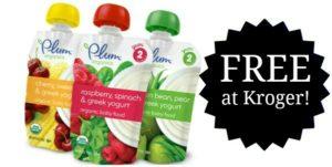 FREE Plum Organics Pouches at Kroger!