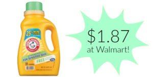 Walmart: Arm & Hammer Liquid Laundry Detergent Only $1.87!