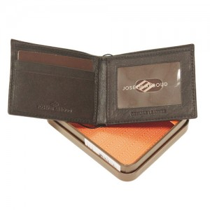 Joseph Abboud Genuine Leather Slimfold Men's Wallet inside
