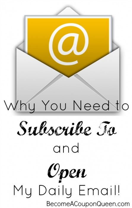 Why You Need to Subscribe To and Open My Daily Email