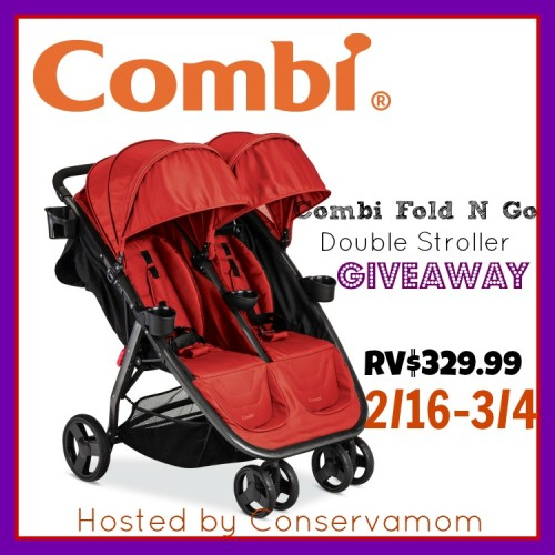 Combi Fold N Go Double Stroller Giveaway! (ends 3/4)